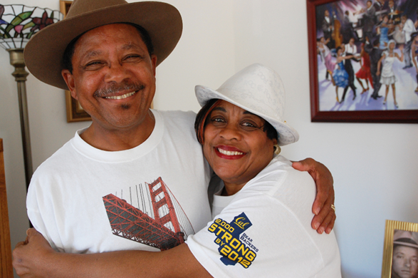 Warren and Peggy Semien in their home in San Francisco.